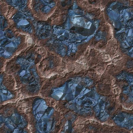 Gemstone Ore Seamless Texture Tile Imagens