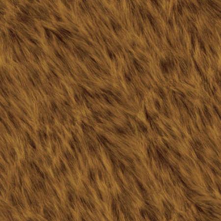 クマの毛皮のシームレスなテクスチャ タイル