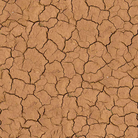 Cracked Earth Seamless Texture Tile Stock fotó