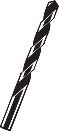 drill bit: Drill Bit Vinyl Ready Vector Illustration