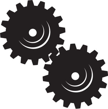 Machinery Gears Vinyl Ready Vector Illustration Stock Vector - 14166022