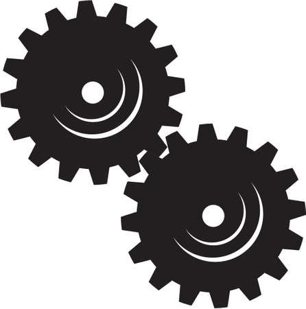 machinist: Machinery Gears Vinyl Ready Vector Illustration