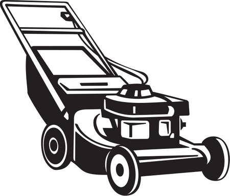 Power Lawnmower Vinyl Ready Vector Illustration Vettoriali