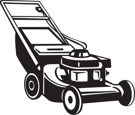 mower: Power Lawnmower Vinyl Ready Vector Illustration Illustration