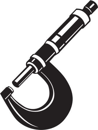 Micrometer Vinyl Ready Vector Illustration