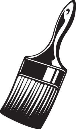 Paint Brush Vinyl Ready Vector Illustration Vettoriali