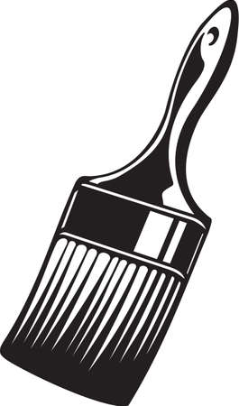 Paint Brush Vinyl Ready Vector Illustration Illustration