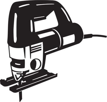 Säbelsäge Vinyl-Ready Vektor-Illustration Standard-Bild - 14166020