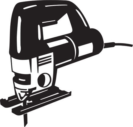 jig: Saber Saw Vinyl Ready Vector Illustration Illustration