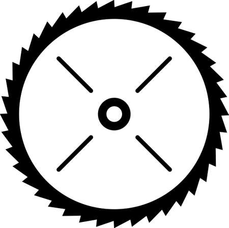 round: Circular Saw Blade Vinyl Ready Vector Illustration
