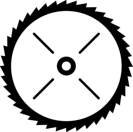 Hoja de sierra circular Ilustración Vinyl Ready Vector