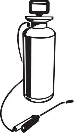 殺虫剤噴霧器ビニール準備ができているベクトル イラスト