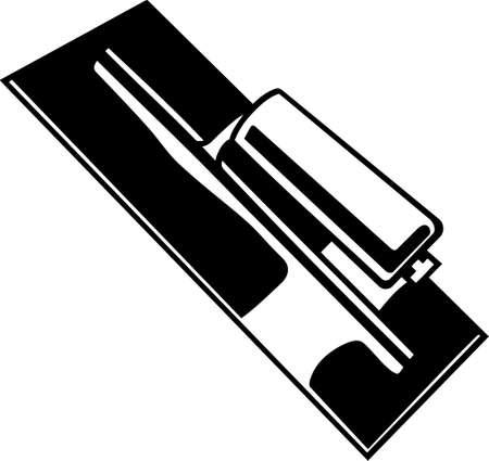 Paleta Vinyl Ready Vector Illustration Ilustración de vector