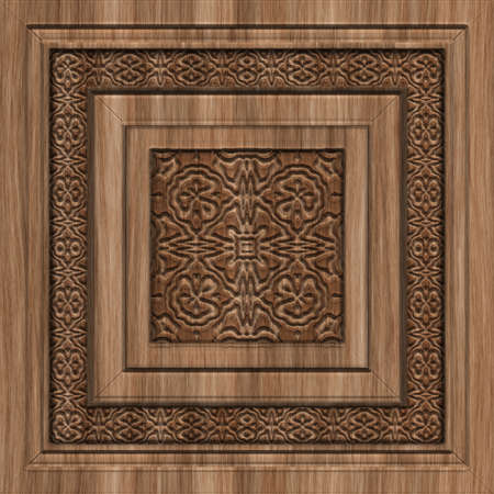 Carved Wood Seamless Texture Tile