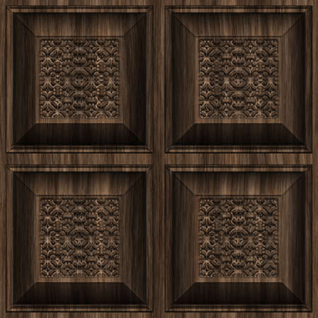 seamless tile: Carved Wood Seamless Texture Tile