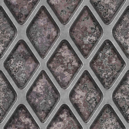 Grate on Granite Seamless Texture Tile Stock Photo - 14215917