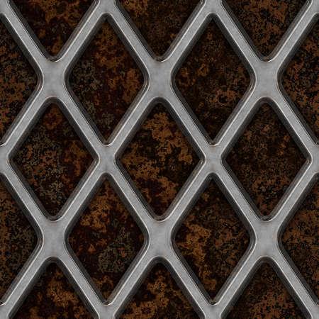 쇠 격자: 화강암 원활한 텍스처 타일에 쇠 격자 스톡 사진