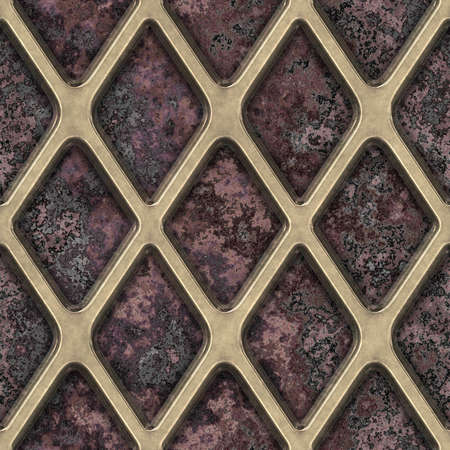 metal grate: Grate on Granite Seamless Texture Tile