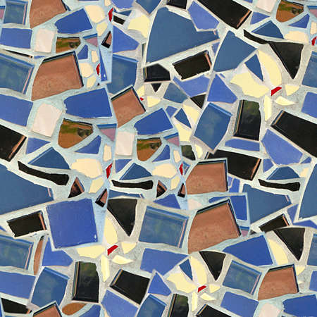 Broken Tile Mosaic Seamless Texture Tile photo