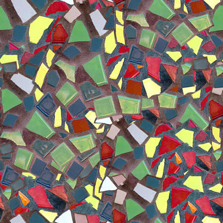 Broken Tile Mosaic Seamless Texture Tile Stock Photo - 14215909