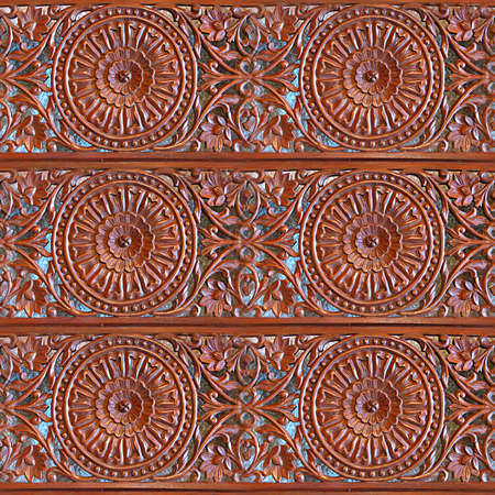 Carved Wood Seamless Texture Tile photo