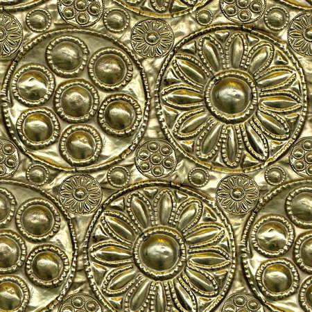 Embossed Metal Seamless Texture Tile Archivio Fotografico