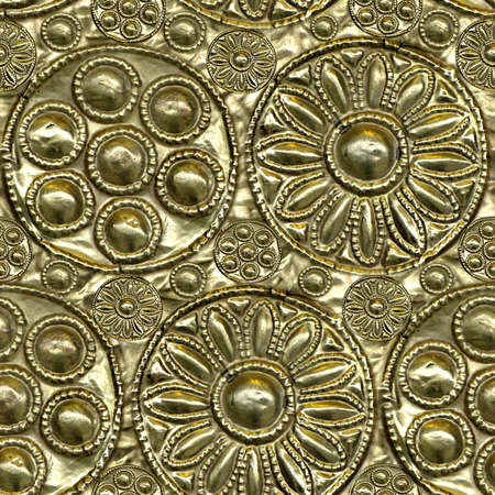 Embossed Metal Seamless Texture Tile Stockfoto