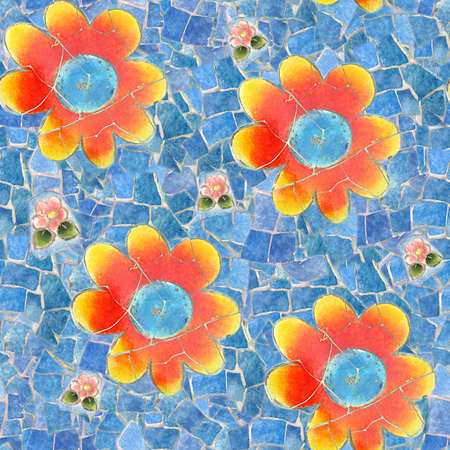 Mosaic Seamless Texture Tile Stock Photo - 14215891