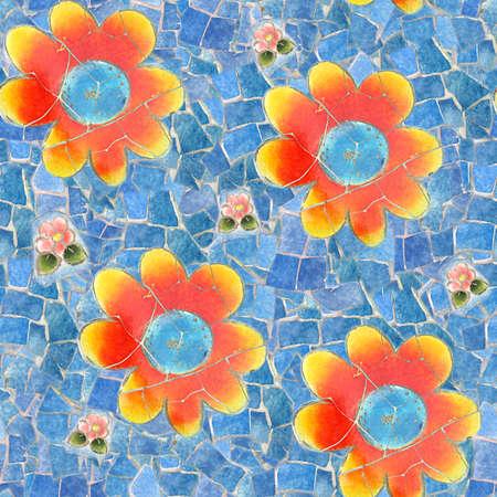 Mosaic Seamless Texture Tile Stock Photo - 14215891