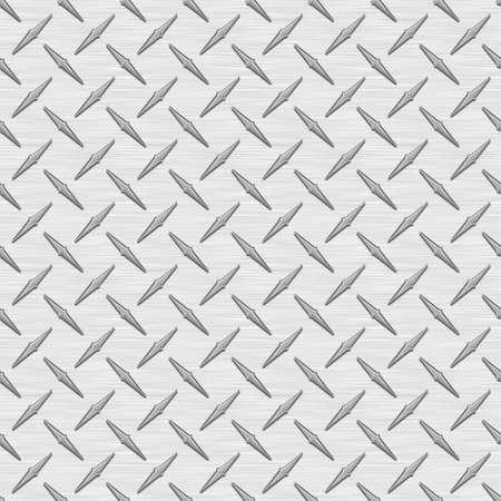 銀の Diamondplate 金属シームレス テクスチャ タイル