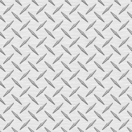 Silver Diamondplate Metaal Naadloze Textuur Tegel Stockfoto - 14294498