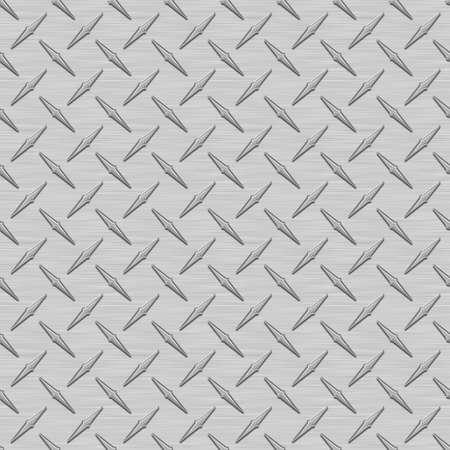 灰色の Diamondplate 金属シームレス テクスチャ タイル