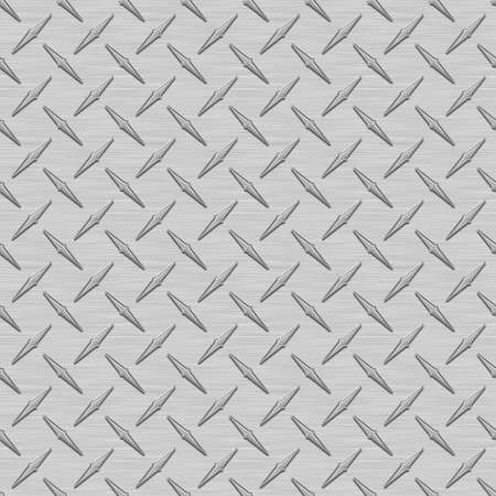 Gray Diamondplate Metal Seamless Texture Tile photo