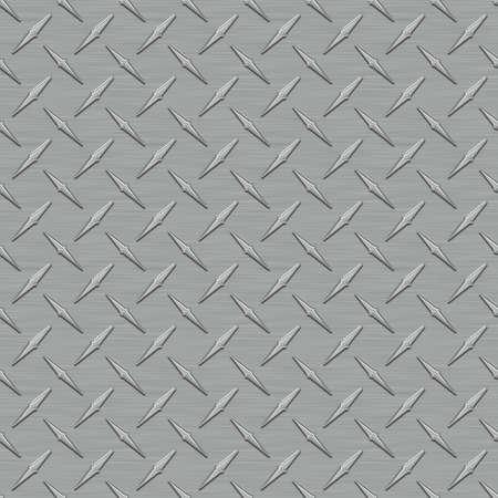 진한 회색 Diamondplate 금속 원활한 타일 텍스처