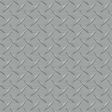 Dark Metal Gris Diamondplate texture Seamless Tile Banque d'images - 14294491