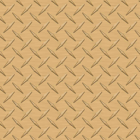 Gold Diamondplate Metal Seamless Texture Tile photo