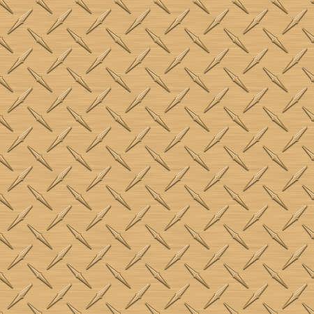 diamondplate: Oro diamondplate Metallo Texture Seamless Tile Archivio Fotografico