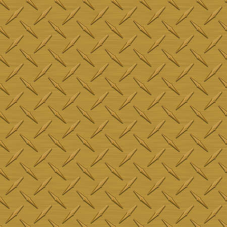 Dark Gold Diamondplate Metal Seamless Texture Tile photo