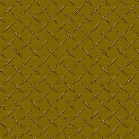 Bronze Diamondplate Metal Seamless Texture Tile photo