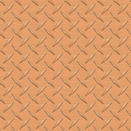anodized: Diamondplate cobre met�lico con placa Seamless Texture Foto de archivo
