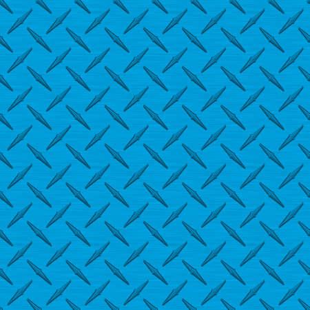Bright Blue Diamondplate Metal Seamless Texture Tile photo