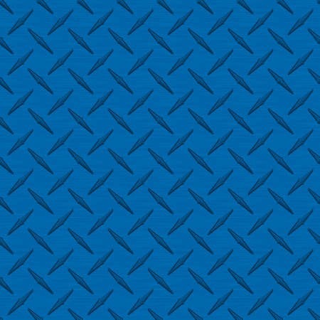 Medium Blue Diamondplate Metal Seamless Texture Tile photo