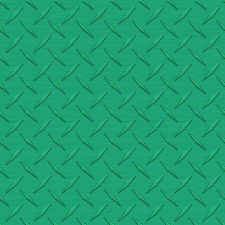 diamondplate: Medium Green Diamondplate Metal Seamless Texture Tile Stock Photo