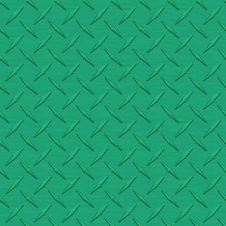 diamondplate: Verde medio Diamondplate metallo Seamless Texture Tile Archivio Fotografico