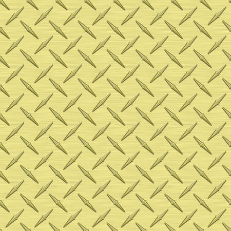 Pale Yellow Diamondplate Metal Seamless Texture Tile photo