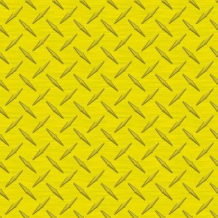 Yellow Diamondplate Metal Seamless Texture Tile photo