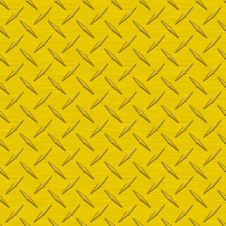 Sunflower Yellow Diamondplate Metal Seamless Texture Tile photo