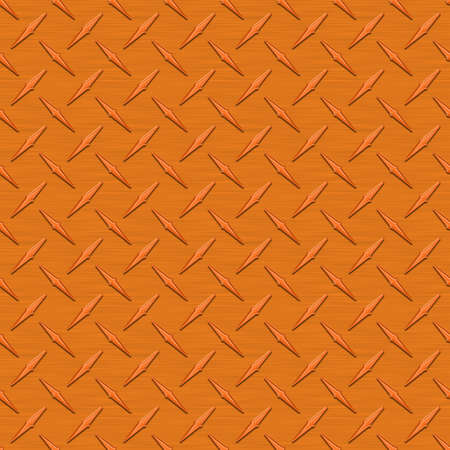 diamondplate: Arancione Diamondplate metallo Seamless Texture Tile