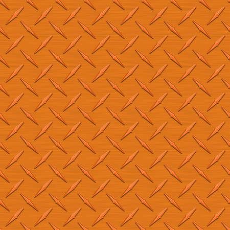 anodized: Orange Diamondplate Metal Seamless Texture Tile Stock Photo