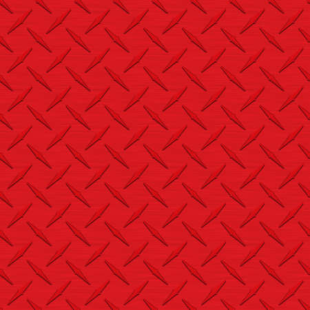 Red Diamondplate Metal Seamless Texture Tile